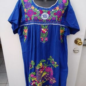 Oaxaca Embroidered Dress Mexico Boho